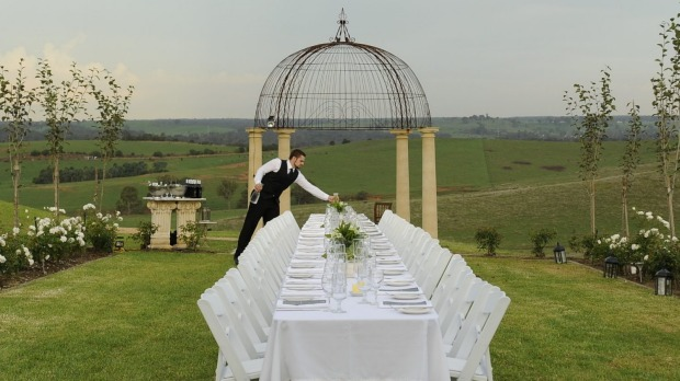 The table is laid for the Secret Supper Club at a private estate.