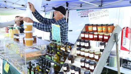 Jams and produce are among the delights of the Camden Produce markets.
