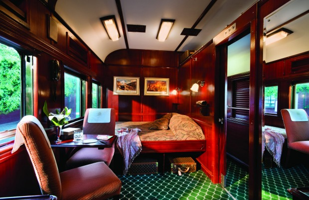 A deluxe suite on Rovos Rail.