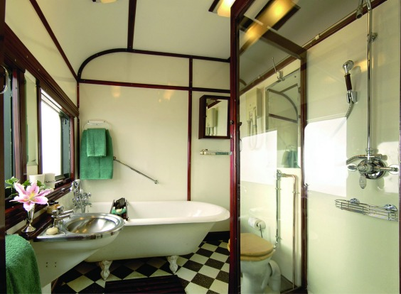 Spacious bathrooms are part of the comfortable travel ethos on Pride of Africa.