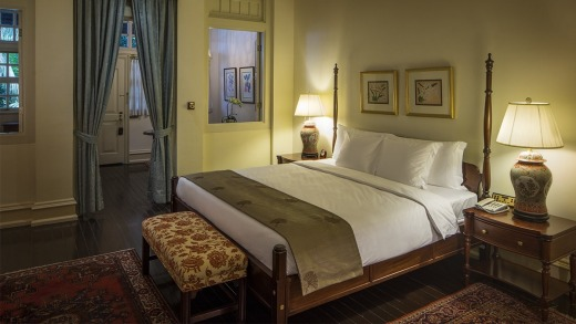 The rooms have a colonial elegance.
