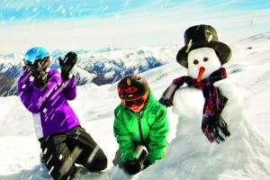 Family fun in the snow at Cardrona.