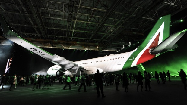 The airline's new livery at its launch.