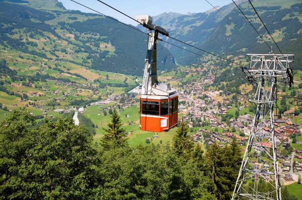 GRINDELWALD-MANNLICHEN CABLEWAY, SWITZERLAND: This snail-paced gondola ride takes 35 minutes to cover the six kilometres ...