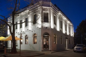 The facade of the Coppersmith Hotel, South Melbourne.