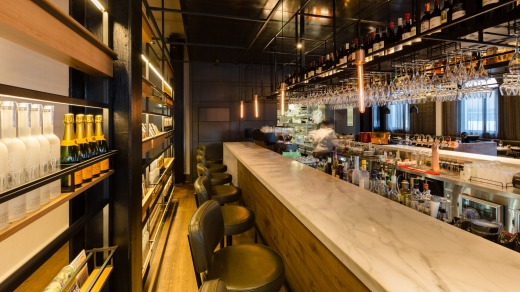 The main bar at the Coppersmith Hotel, South Melbourne.