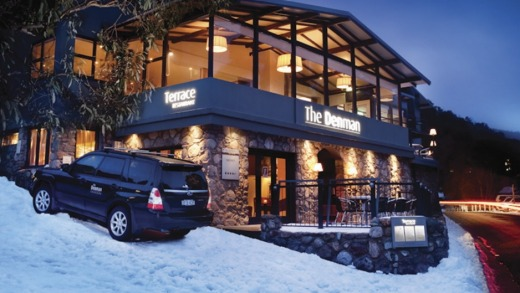 The Apres Bar at the Denman, Thredbo can turn into one big party.