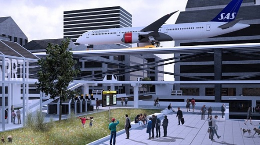 The design concept for Stockholm City Airport.