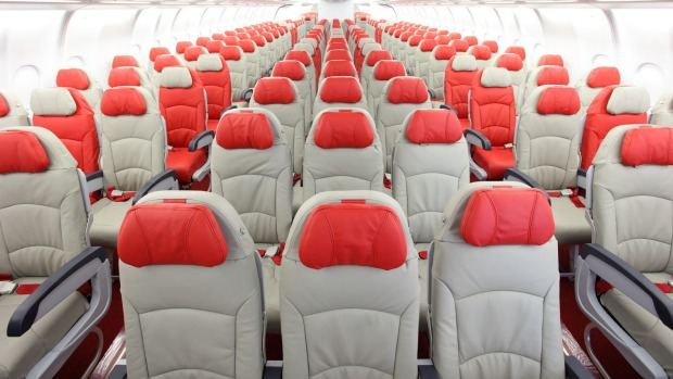AirAsia's seats are stylish, for a low-cost outfit.