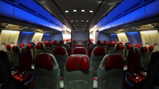 Blue Zone seating aboard Air Asia.