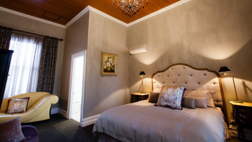 The king suite is elegant and luxurious.
