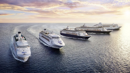 Five P&O Cruises' ships will meet in Sydney Harbour.