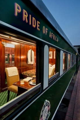 The view from deluxe double suite on the Pride of Africa train.