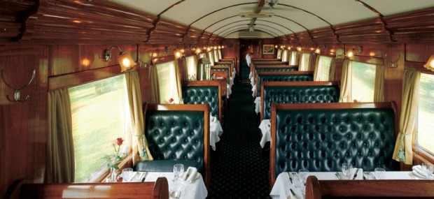 The banquette dining car.