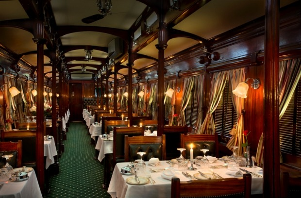 The pillared dining car.