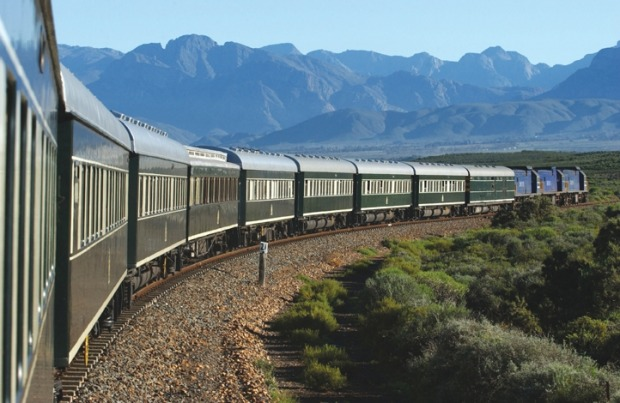 Rovos Rail, Africa. Carrying just 72 passengers, the exclusive train provides 24-hour service and top luxury on rebuilt ...
