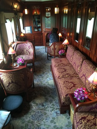 A lounge on the Eastern & Oriental Express.