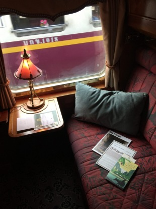 A cabin on the Eastern & Oriental Express.