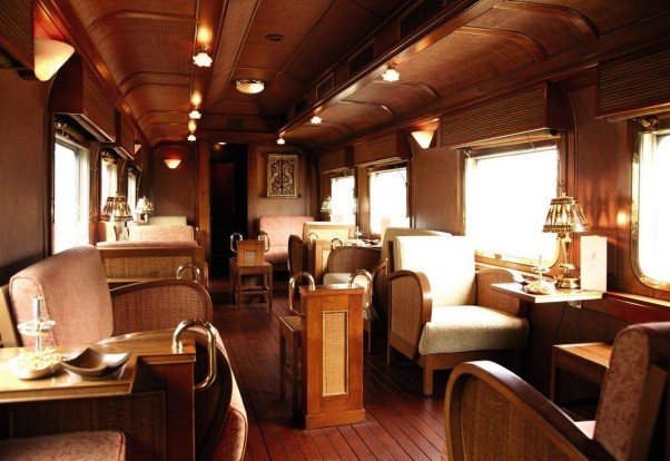 A bar on the Eastern & Oriental Express.