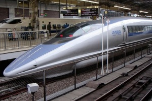 (NO CAPTION INFORMATION PROVIDED)  Shinkansen bullet train