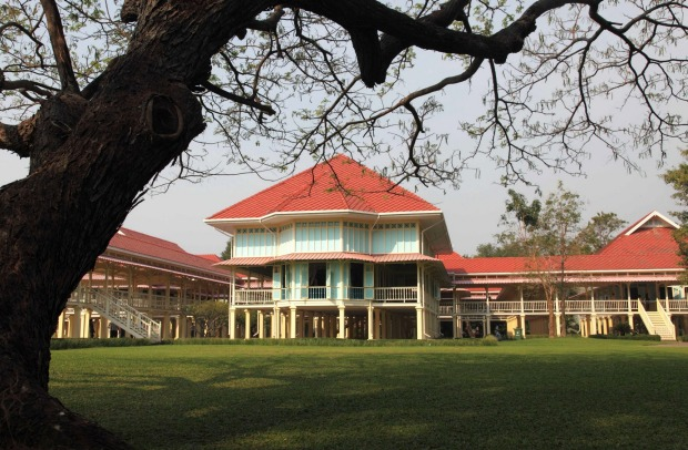 MARUEKATAYAWAN PALACE, PHETCHABURI, THAILAND: This vast wooden structure built as a summer palace in 19232 by King Rama ...