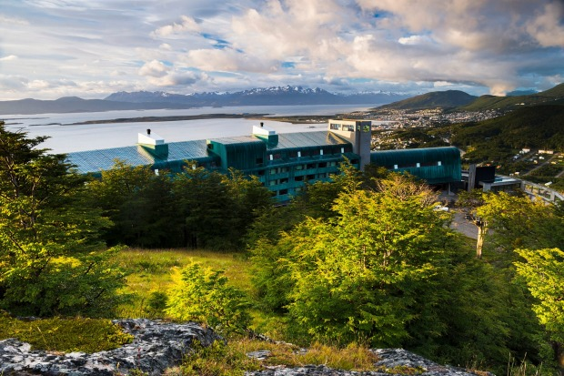 Hotel Arakur overlooks Ushuaia, the southern most city in the world.