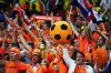 Netherlands fans celebrate victory, and progression to the semi-finals, following the 2010 FIFA World Cup South Africa ...