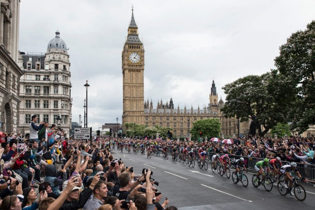 Spectators see surprisingly little of the actual race – just the whoosh of the peloton as it flies by your position by ...