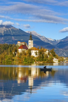 The Orthodox Church of Assumption and Bled Castle, Slovenia. Its neighbouring countries include the holiday hotspots of ...