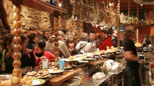 A tapas bar in Spain -  a country that takes its cuisine seriously.