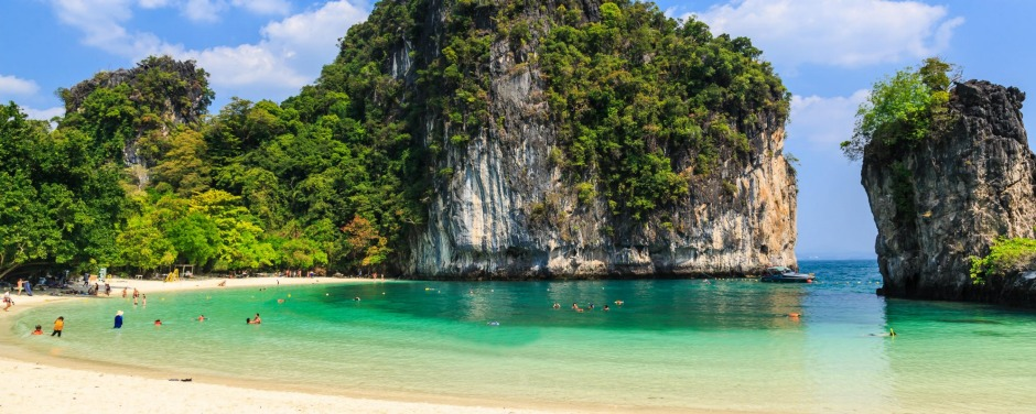 Hong Island, off Krabi. The well-earned paradise at the end of the road.