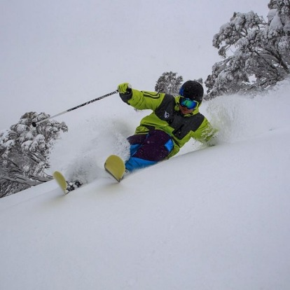 Drew Jolowicz at Hotham.