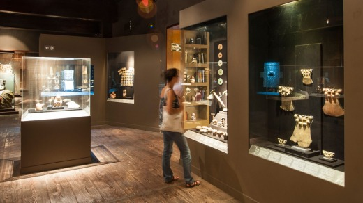 Pre-Columbian artefacts on display in the Larco Museum.