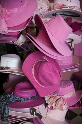 Hats at the Pink Roadhouse.