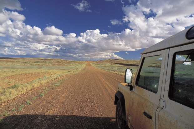 Wide open road: The Oodnadatta Track.