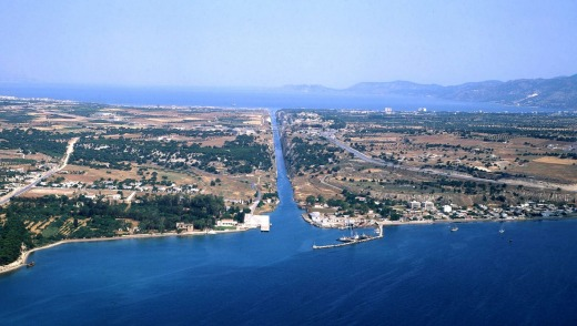 Corinth canal, Greece Harbour.