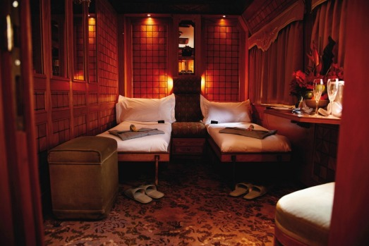 A suite on board Eastern & Orient Express.