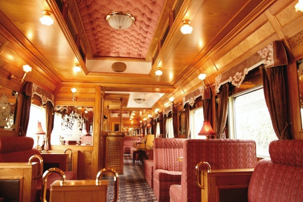 The main bar on the Eastern & Orient Express.