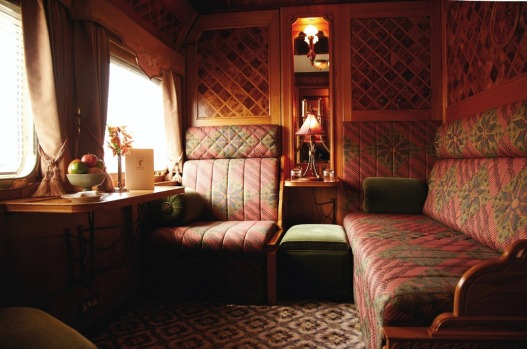 A state cabin on board the Eastern & Orient Express.