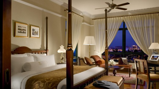 A  deluxe room at the Majestic Hotel.