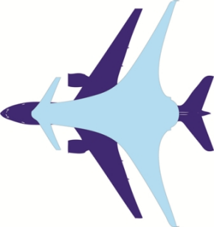 The AHEAD design overlayed above a Boeing 777.