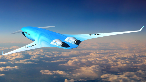 KLM's proposed AHEAD aircraft design features an integrated wing and body.