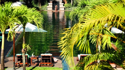 Belmond La Residence d'Angkor's enticing pool.