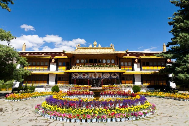 NORBULINGKA PALACE, LHASA, TIBET: Lhasa's superstars are the Potala, the 1000-room former palace of the Dalai Lamas, and ...