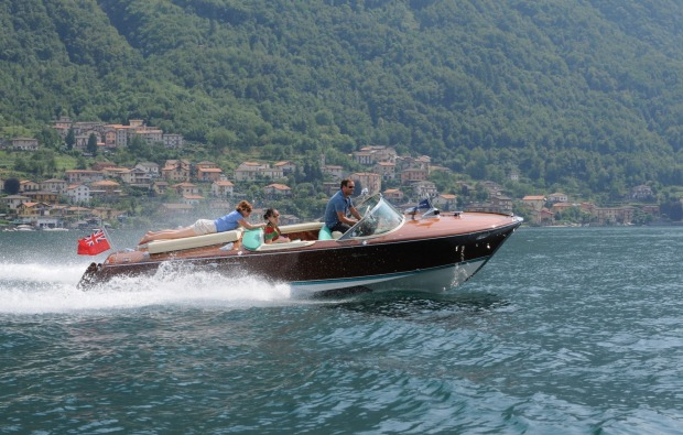 WIND IN YOUR HAIR, LAKE COMO, ITALY. Among life's zestful, luscious experiences, a water taxi on Lake Como – summer ...