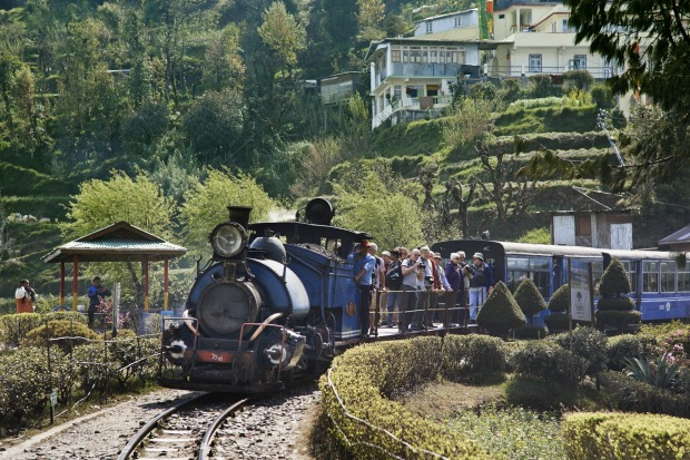ALL STEAMED UP, DARJEELING, INDIA  Painted a Thomas-the-Tank-Engine shade of blue, the toy train that huffs and puffs ...