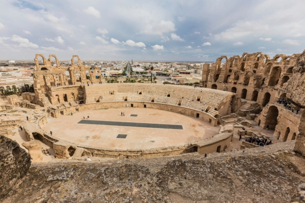El Djem amphitheatre, Tunisia: There's not much going on in the town of El Djem. It's a working city in the centre of ...