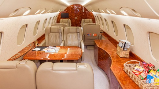 The Legacy 600 jet can carry 13 passengers.