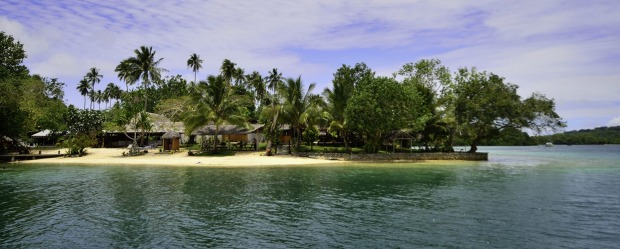 Oyster Island Resort sits in a spectacular marine reserve off Espiritu Santo, north-west of Vila.