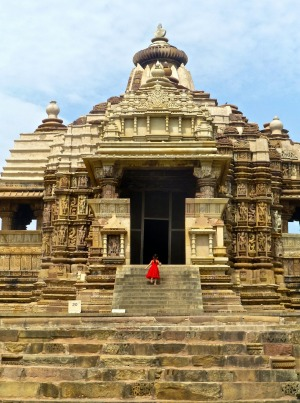 Devi Jagadambe temple in the western group.